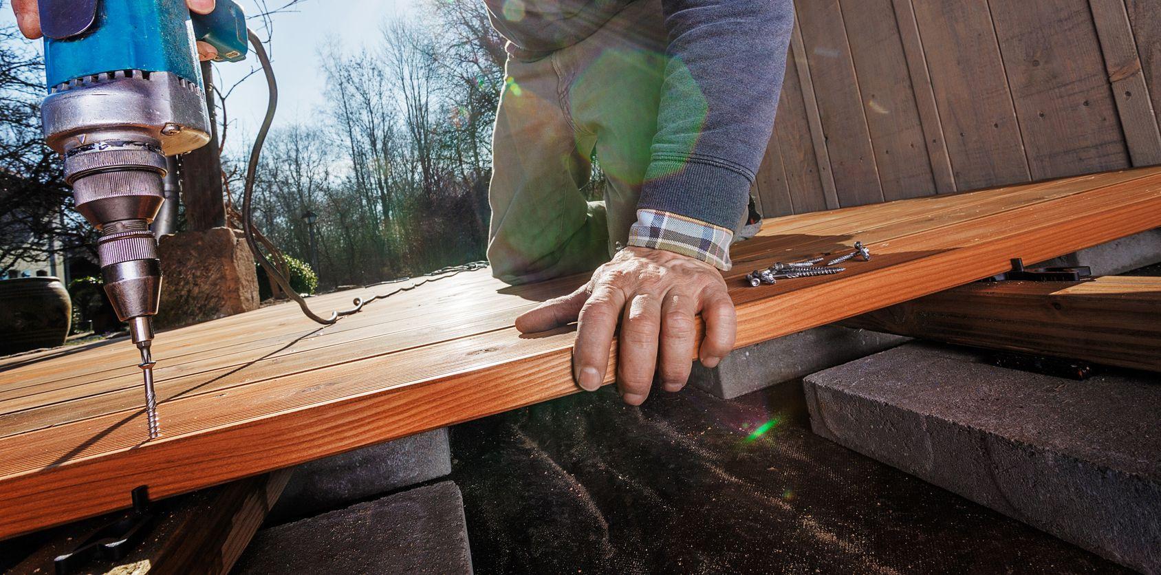 Mise en œuvre de terrasse bois
